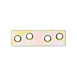 Flachverbinder. Flachverbinder mit beidseitig versenkter Lochung, galvanisch gelb verzinkt