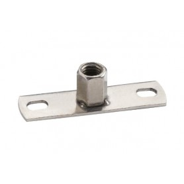 Grundplatte. Rostfreier Stahl A4