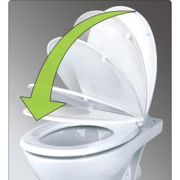 WC - Sitz Duroplast Absenkautomatik, Schnellverschluss