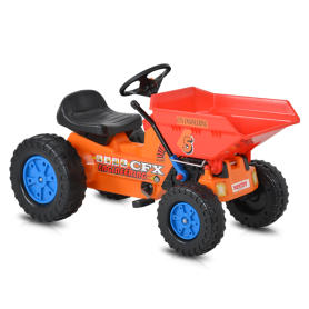 Hecht Kinder Trettraktor Orange - Rot