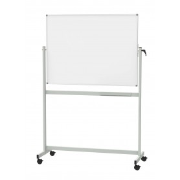 Mobiles Whiteboard Standard, Drehbar Kunststoffbeschichte Grau