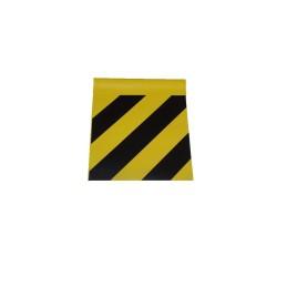 Faniontuch gelb/schwarz 20cmx20cm genäht