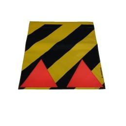 Faniontuch gelb/schw. R 40cmx40cm für Stiel