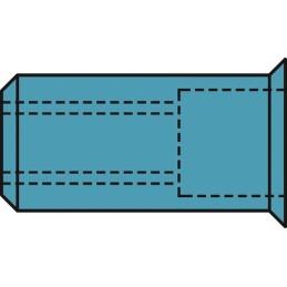 Gesipa Blindnietmuttern A2-Edelstahl Kleinkopf-M 500stk.