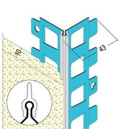 Kantenprofil für Aussenputz 10mm Kante weiss