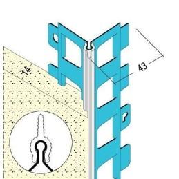 Kantenprofil für Aussenputz 14mm Kante weiss
