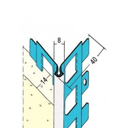 Kantenprofil Innen- & Aussenputz ab 14mm Putzdicke