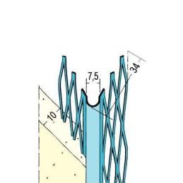 Kantenprofil Innenputz ab 10mm Putzdicke, rund