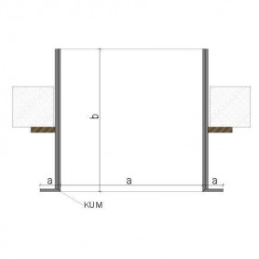 ProFORM Oberlicht in 2x12.5 GKF mit KUM-Schürze