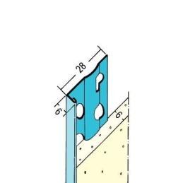 Putzabschlussprofil Innen ab 6mm Putzdicke
