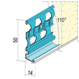 Sockelprofil für Aussenputz ab 14mm Putzdicke