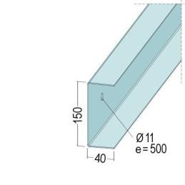 U-Wandprofil 150x40x1.5mm