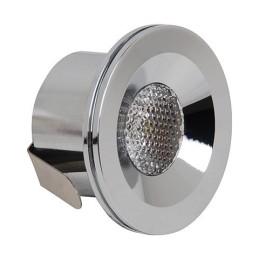 MIRANDA-3W-Mat Chrom-LED Strahler / LED Solarleuchten