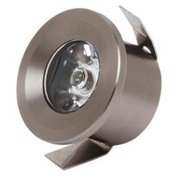 MONICA-1W-Mat Chrom-LED Strahler / LED Solarleuchten