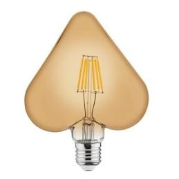 RUSTIC HEART-6W-E27-2200 K-LED Filament / LED Einbauleuchten