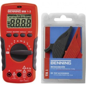 Benning MM 1-3 + Set TA 1 Hand-Multimeter digital