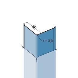 Kantenschutzprofil zum Kleben, 65x65x1.5mm