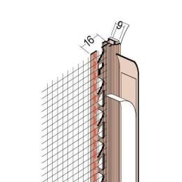 Anputzdichtleiste für 9mm Putzdicke, Gewebe, PVC Bewegungselem. u. Schattenfuge
