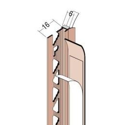 Anputzdichtleiste für 6mm Putzdicke, Schutzlippe
