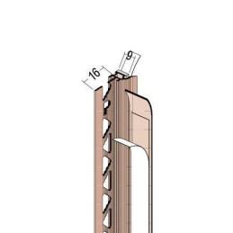 Anputzdichtleiste für 9mm Putzdicke, PVC Bewegungselem. u. Schutzlippe