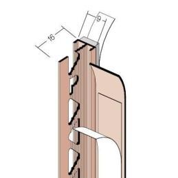 Anputzdichtleiste für 9mm Putzdicke, Schattenfuge