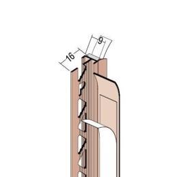 Anputzdichtleiste für 9mm Putzdicke, Schutzlippe