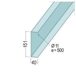 U-Anschlussprofil 151x40x2.0mm