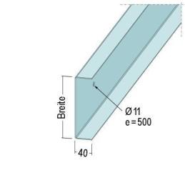 U-Anschlussprofil 251x40x2.0mm