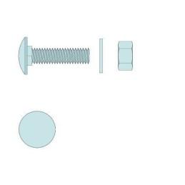Montage-Set für Weitspannträger M8x20mm