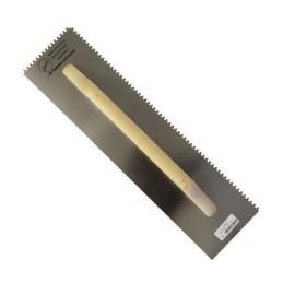 Zahnkelle, rostfrei, 500x130x3mm