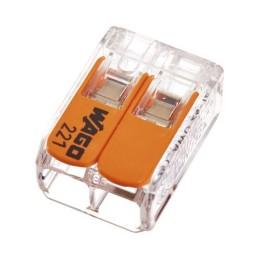 Compact Verbindungsklemme 2-Leiter 100 Stück 221-412 Wago