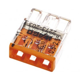 Steckklemme Wago 2273-203 3x0.5-2.5mm² 25 Stück