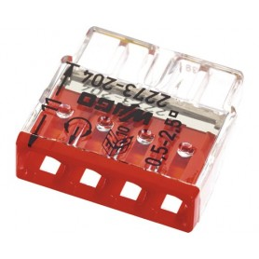 Steckklemme Wago 2273-204 4x0.5-2.5mm² 25 Stück