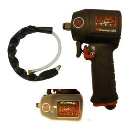 Ks-Tools Druckluft-Schlagschrauber Minimonster Xtremelight 1390 Nm + Geräuschreduzierschlauch