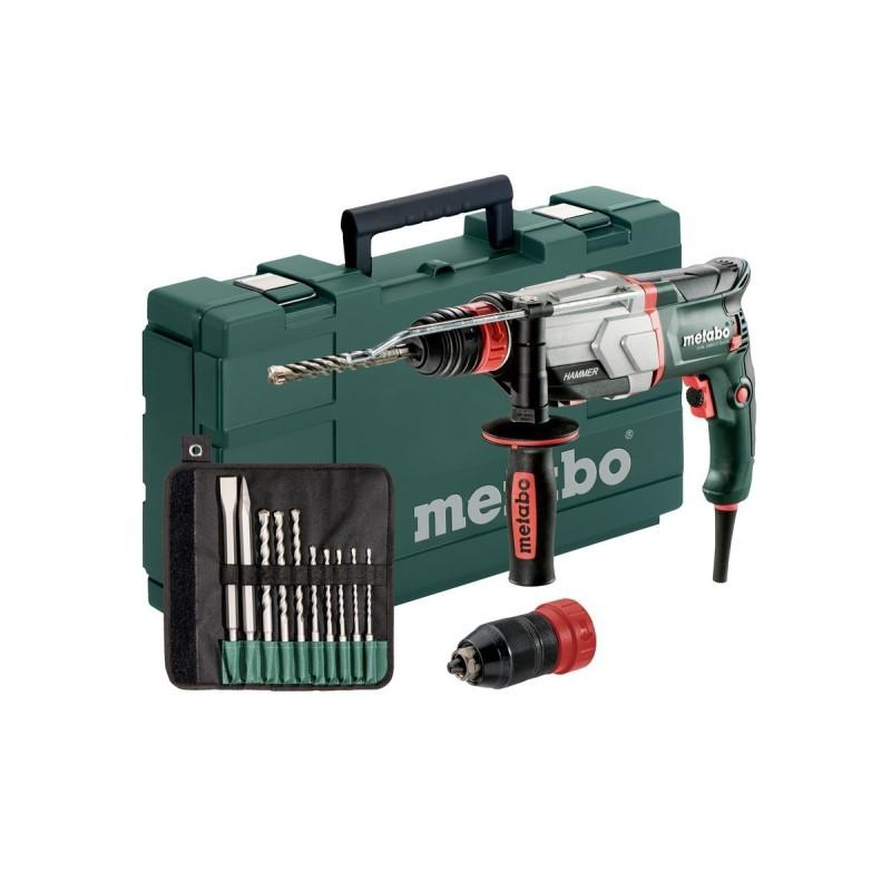 Multihammer Kunststoffkoffer,Mit Sds-Plus-Bohrer-/Meisselsatz (10-Tlg.
