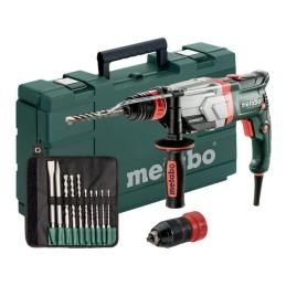 Metabo Multihammer UHEV 2860-2 Quick Set + SDS-plus-Bohrer-/Meisselsatz (10-tlg.) + Kunststoffkoffer