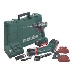 Metabo Akkuset Combo Set 2.6.1 18 V BS 18 + MT 18 LTX + Kunststoffkoffer