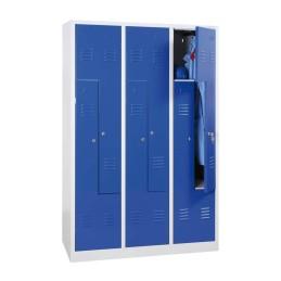 Garderobenschrank Blau/Grau