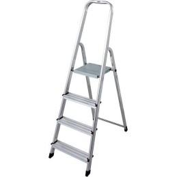 Krause Aluminium Stufen-Stehleiter Arbeitshöhe (Max.): 2.80 M Silber 3.6 Kg