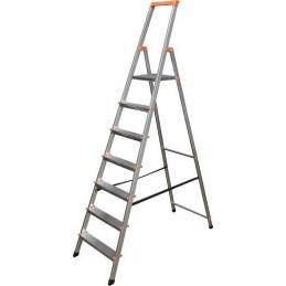 Krause Aluminium Stufen-Stehleiter Arbeitshöhe (Max.): 3.50 M Silber 6 Kg