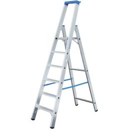 Krause Aluminium Stufen-Stehleiter Arbeitshöhe (Max.): 3.90 M Silber 10.5 Kg