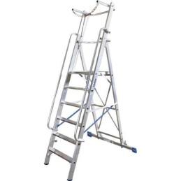 Krause Stabilo® Professional Aluminium Stufen-Stehleiter Arbeitshöhe (Max.): 5.3 M Silber 30.5 Kg