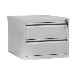 Schrank-Aufsatz Blau/Grau 2 Schubladen