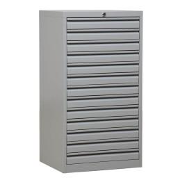 Schubladenschrank Grau/Grau 13 Schubladen