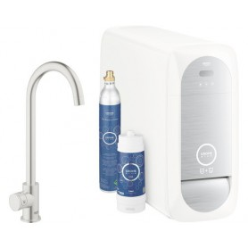 Grohe Blue Home Starter Kit C-Auslauf Standventil supersteel