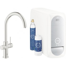Grohe Blue Home Starter Kit C-Auslauf supersteel