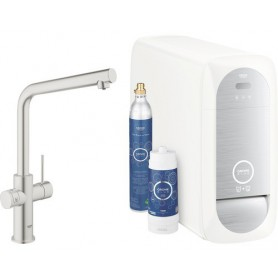 Grohe Blue Home Starter Kit L-Auslauf supersteel