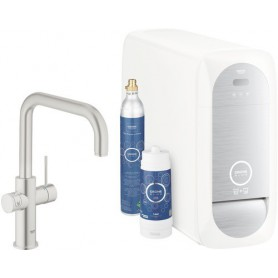 Grohe Blue Home Starter Kit U-Auslauf supersteel