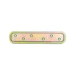 Flachverbinder. Verbindungsplatte, geprägt, galvanisch gelb verzinkt