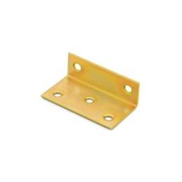 Winkelverbinder. Breitwinkel, ungleichschenklig, galvanisch gelb verzinkt